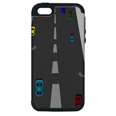 Traffic Road Driving Cars Highway Apple iPhone 5 Hardshell Case (PC+Silicone)