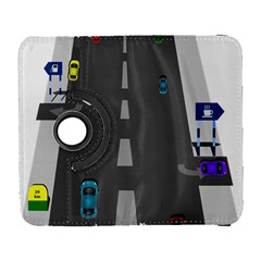 Traffic Road Driving Cars Highway Galaxy S3 (Flip/Folio)