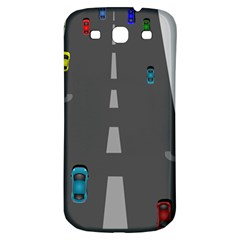 Traffic Road Driving Cars Highway Samsung Galaxy S3 S III Classic Hardshell Back Case