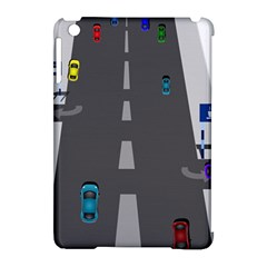Traffic Road Driving Cars Highway Apple iPad Mini Hardshell Case (Compatible with Smart Cover)