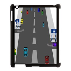 Traffic Road Driving Cars Highway Apple iPad 3/4 Case (Black)