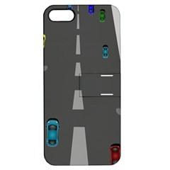 Traffic Road Driving Cars Highway Apple iPhone 5 Hardshell Case with Stand