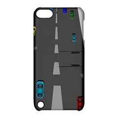 Traffic Road Driving Cars Highway Apple iPod Touch 5 Hardshell Case with Stand