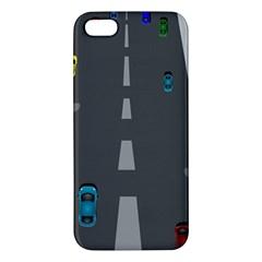 Traffic Road Driving Cars Highway Apple iPhone 5 Premium Hardshell Case