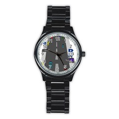 Traffic Road Driving Cars Highway Stainless Steel Round Watch