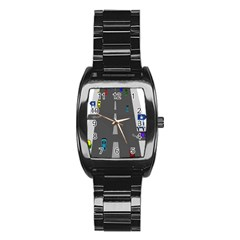 Traffic Road Driving Cars Highway Stainless Steel Barrel Watch