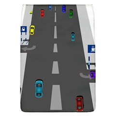 Traffic Road Driving Cars Highway Flap Covers (L)