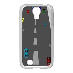 Traffic Road Driving Cars Highway Samsung GALAXY S4 I9500/ I9505 Case (White)