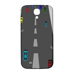 Traffic Road Driving Cars Highway Samsung Galaxy S4 I9500/I9505  Hardshell Back Case