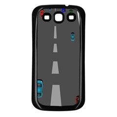 Traffic Road Driving Cars Highway Samsung Galaxy S3 Back Case (Black)