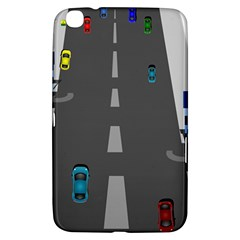 Traffic Road Driving Cars Highway Samsung Galaxy Tab 3 (8 ) T3100 Hardshell Case