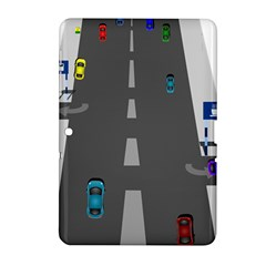 Traffic Road Driving Cars Highway Samsung Galaxy Tab 2 (10.1 ) P5100 Hardshell Case