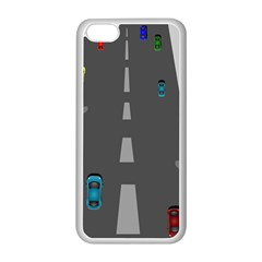 Traffic Road Driving Cars Highway Apple iPhone 5C Seamless Case (White)