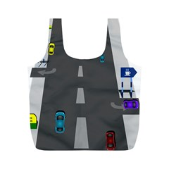 Traffic Road Driving Cars Highway Full Print Recycle Bags (M)