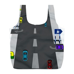 Traffic Road Driving Cars Highway Full Print Recycle Bags (L)