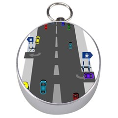 Traffic Road Driving Cars Highway Silver Compasses