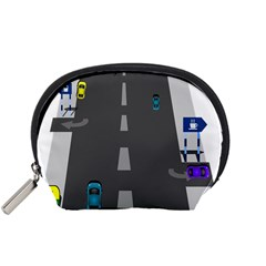 Traffic Road Driving Cars Highway Accessory Pouches (Small)