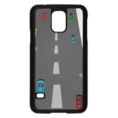 Traffic Road Driving Cars Highway Samsung Galaxy S5 Case (Black)