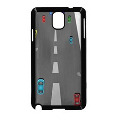 Traffic Road Driving Cars Highway Samsung Galaxy Note 3 Neo Hardshell Case (Black)