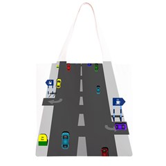 Traffic Road Driving Cars Highway Grocery Light Tote Bag