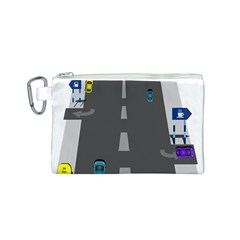 Traffic Road Driving Cars Highway Canvas Cosmetic Bag (S)