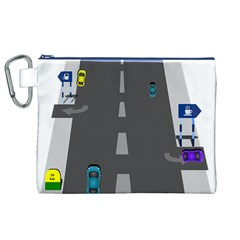 Traffic Road Driving Cars Highway Canvas Cosmetic Bag (XL)