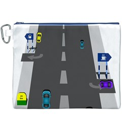 Traffic Road Driving Cars Highway Canvas Cosmetic Bag (XXXL)
