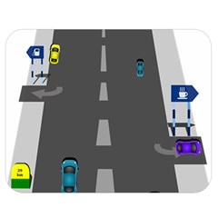 Traffic Road Driving Cars Highway Double Sided Flano Blanket (Medium)