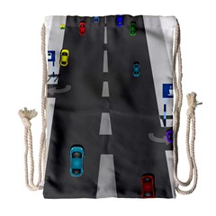 Traffic Road Driving Cars Highway Drawstring Bag (Large)