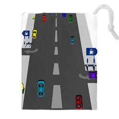 Traffic Road Driving Cars Highway Drawstring Pouches (XXL)