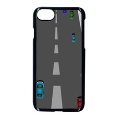 Traffic Road Driving Cars Highway Apple iPhone 7 Seamless Case (Black)