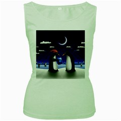 Small Gift For Xmas Christmas Women s Green Tank Top