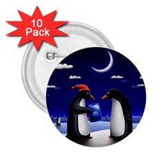 Small Gift For Xmas Christmas 2.25  Buttons (10 pack)