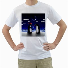 Small Gift For Xmas Christmas Men s T-Shirt (White) (Two Sided)