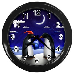 Small Gift For Xmas Christmas Wall Clocks (Black)