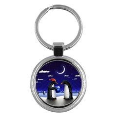 Small Gift For Xmas Christmas Key Chains (Round)
