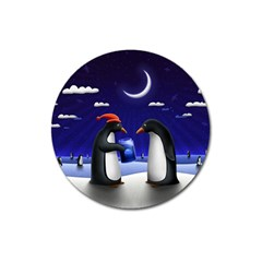 Small Gift For Xmas Christmas Magnet 3  (Round)