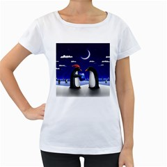 Small Gift For Xmas Christmas Women s Loose-Fit T-Shirt (White)