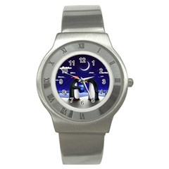 Small Gift For Xmas Christmas Stainless Steel Watch