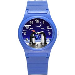 Small Gift For Xmas Christmas Round Plastic Sport Watch (S)