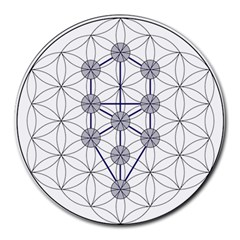 Tree Of Life Flower Of Life Stage Round Mousepads