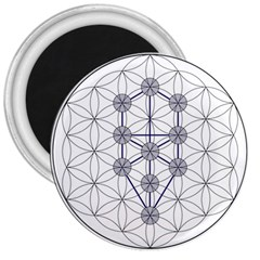 Tree Of Life Flower Of Life Stage 3  Magnets