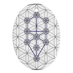 Tree Of Life Flower Of Life Stage Ornament (Oval)