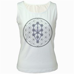 Tree Of Life Flower Of Life Stage Women s White Tank Top