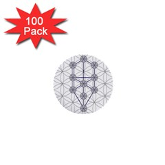 Tree Of Life Flower Of Life Stage 1  Mini Buttons (100 pack)