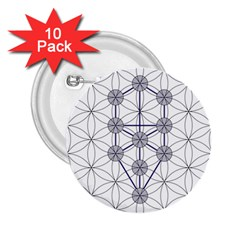 Tree Of Life Flower Of Life Stage 2.25  Buttons (10 pack)