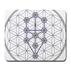 Tree Of Life Flower Of Life Stage Large Mousepads