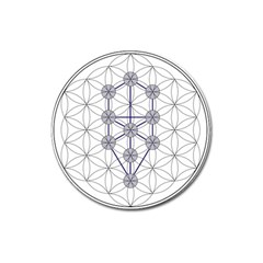 Tree Of Life Flower Of Life Stage Magnet 3  (Round)