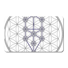 Tree Of Life Flower Of Life Stage Magnet (Rectangular)