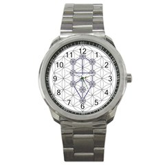 Tree Of Life Flower Of Life Stage Sport Metal Watch